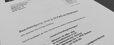 04.03.2020: Fortbildung in Bochum